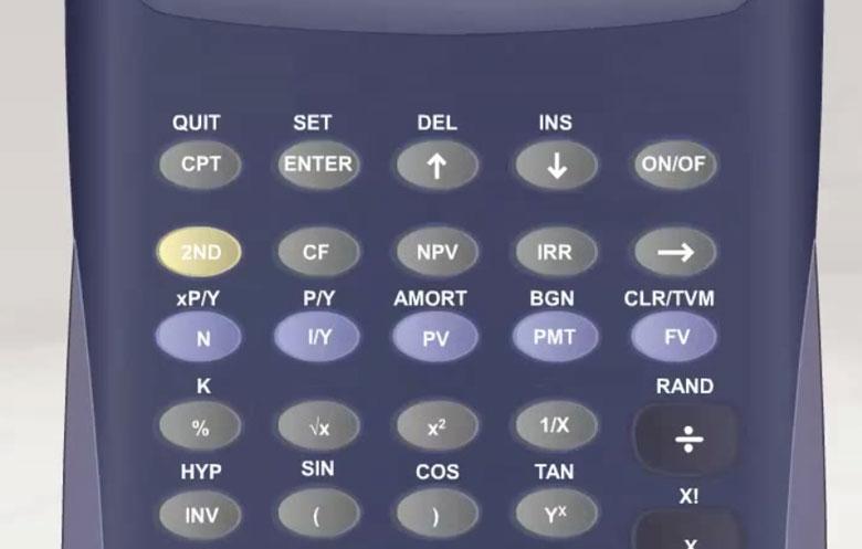 Клавиши для расчета TVM на финансовом калькуляторе.